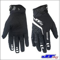 Guanto Moto Cross JT Racing Usa Protek Gloves Black White new 2015