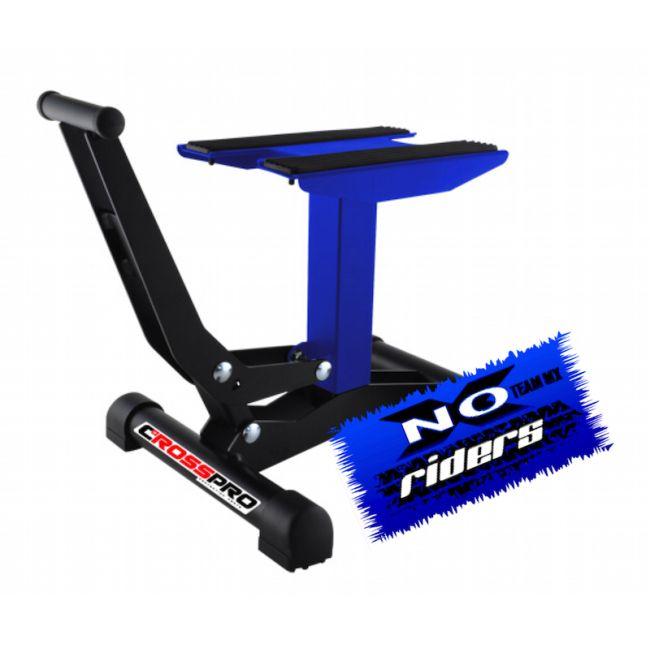 cavalletto alza moto racing a pedale cross pro blu noxriders. Black Bedroom Furniture Sets. Home Design Ideas