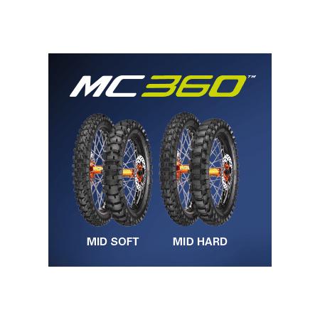 COPPIA GOMME CROSS ENDURO METZELER MC 360 MID HARD 80//100-21 51M 110//100-18 64M