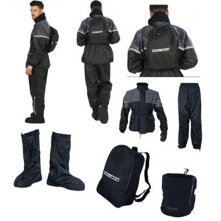 Tuta Anti pioggia Antipioggia MOTO T.J MARVIN Giacca Pantalone Copristivali XXL